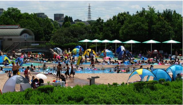 大阪府営公園 服部緑地ウォーターランドプール (豊中市)