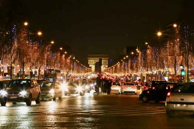 フランスパリ シャンゼリゼ通り クリスマス