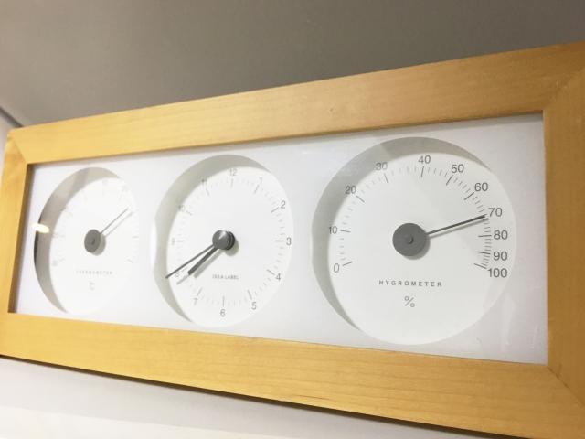 湿度計は必ず置いて加湿を!冬の最適湿度について